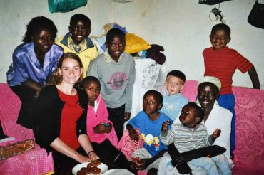 Hellen and her family, my friend Leah, and my kids, 2005