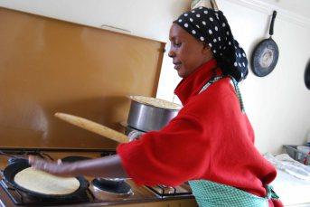 Flo, making chipati at SoH, 2010