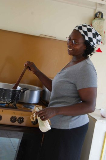 Kellen, stove-top cooking at SoH, 2012
